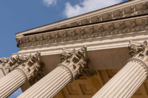 57128241 - ionian column capital architectural detail.
